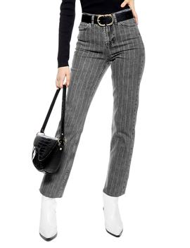 High Waist Pinstripe Jeans by Topshop