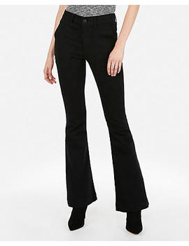 High Waisted Black Bell Flare Jeans by Express