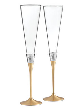 With Love Gold Toasting Flute Pair by Vera Wang Wedgwood