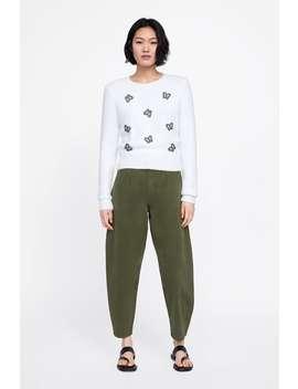 Sweater Malha Com AplicaÇÕes  Última Semanamulher New Collection by Zara