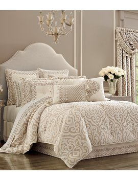 Milano Sand Chenille Damask Comforter Set by J. Queen New York