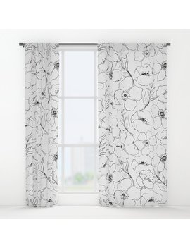 Floral Simplicity Window Curtains by