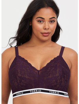 Torrid Logo Purple Lace Bralette by Torrid
