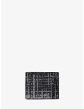 Warren Crosshatch Billfold Wallet by Michael Kors Mens