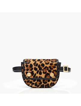 Fanny Pack In Leopard Printed Calf Hair by J.Crew