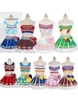 Love Live Cheerleaders Suits Cosplay Costumes Maki Nishikino Women Uniform Eli Ayase Vest Kotori Minami Sonoda Umi For Halloween by Ledundudu
