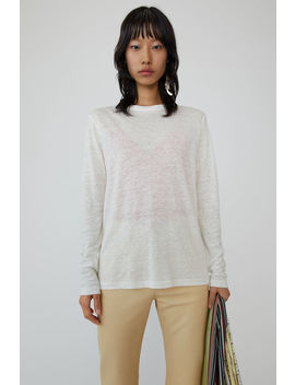 Boy Fit T Shirt Off White by Acne Studios