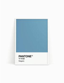 Pantone Print, Pantone Poster, Pantone Niagara, Pantone Spring 2017, Blue Wall Decor, Wall Art, Minimalist Print, Printable Art by Etsy