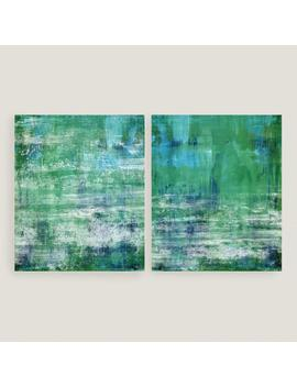Green And Blue Wall Art Set Of 2 by World Market