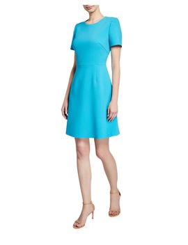 Harper Jewel Neck Short Sleeve Sheath Dress by Kobi Halperin