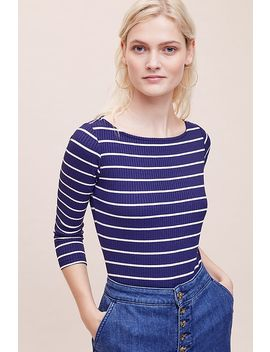 Mira Striped Bodysuit by Anthropologie