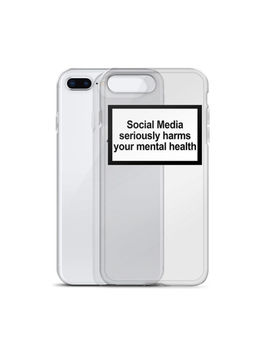 Social Media Seriously Harms Your Mental Health Soft Silicone Case For I Phone by Ebay Seller