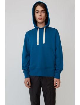 Hooded Logo Sweatshirt Teal Blue by Acne Studios