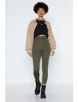 Serve 'em Legs High Waisted Leggings by Nasty Gal