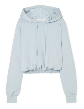 Chloe Cropped Shirred Jersey Hoodie by Calé