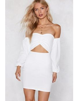 I'm Cut Outta Love Off The Shoulder Dress by Nasty Gal