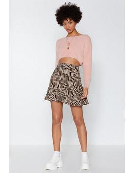 Wild Horses Zebra Skirt by Nasty Gal