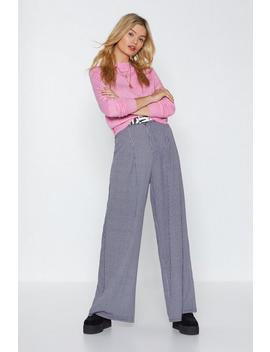 Time For A Check Up Wide Leg Pants by Nasty Gal