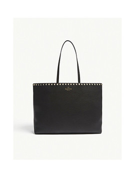 Rockstud Grained Leather Shopper Bag by Valentino