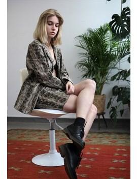 Vintage 90s Snake Look Blazer Set  Skirt by Lucky Girl Vintage