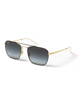 Ray Ban Rb3588 Square Metal Pilot Sunglasses   Glass Lenses by Ray Ban