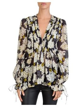 Silk Hortensia Print Top by The Kooples