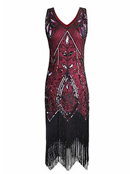 Women Flapper Dresses Plus Size Vintage 1920s Gatsby Inspired Dress Fringed For Prom Party by Jaos Wish
