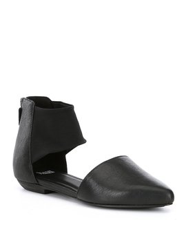 Allot Mesh Banded Leather D'orsay Flats by Eileen Fisher