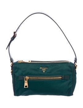 Saffiano Trimmed Tessuto Shoulder Bag by Prada