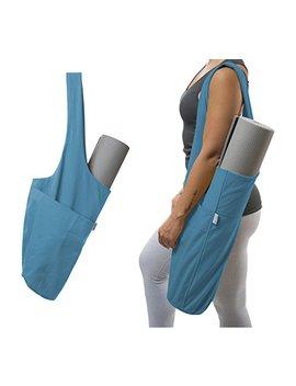 Yogiii Yoga Mat Bag | The Original Yogiii Tote | Yoga Mat Tote Sling Carrier With Large Side Pocket & Zipper Pocket | Fits Most Size Mats by Yogiii