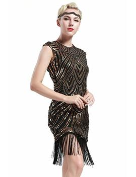 Babeyond Women's Flapper Dresses 1920s Beaded Fringed Great Gatsby Dress by Babeyond