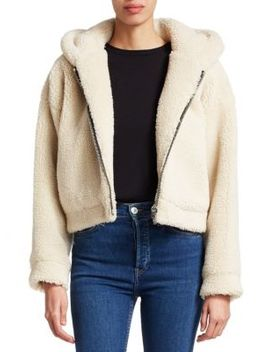 Faux Fur Zip Hoodie by Re/Done