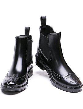 Tongpu Women's Waterproof Short Ankle Rain Boots Fashion Waterproof Slip On Ankel Footwear by Tongpu