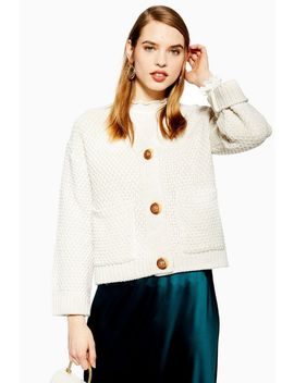 Moss Stitch Cardigan by Topshop
