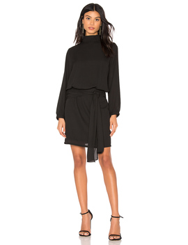 Tie Skirt Long Sleeve Mini Dress by Krisa