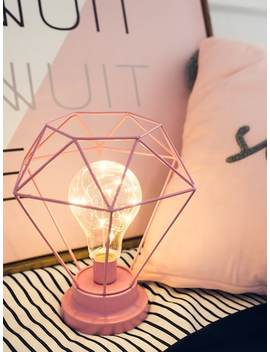 Geometric Border Table Lamp 12 V by Sheinside