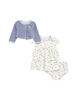 Lemon Dress & Cardigan Set by Little Me