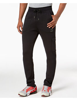 Men's Fleece Cargo Joggers by Puma