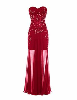 Wedtrend Women's Prom Dress Long Chiffon Evening Dress With Beads by Wedtrend