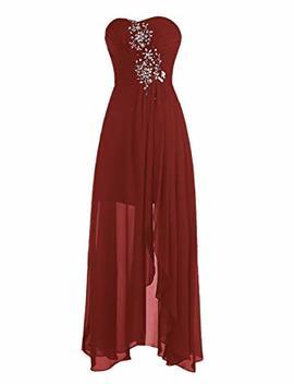 Wedtrend Women's Pleats Prom Dress Split Long Evening Dress With Beads by Wedtrend