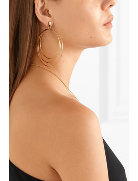Christy 14 Karat Gold Plated Earrings by Natasha Schweitzer