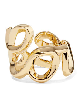 Love Gold Tone Ring by Chloé