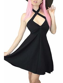 Demi Loon Retro 50s Rockabilly Pinup Dress| Halter Full Skirt Halter Swing Dress by Demi Loon