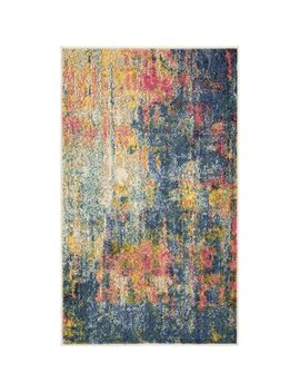 Nourison Celestial Abstract Blue/Yellow Area Rug by Nourison