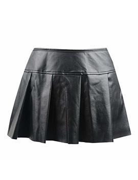 Killreal Women's Punk Rock Faux Leather Bodycon Short Skirt by Killreal