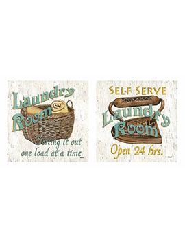 Wallsthatspeak Fun Laundry Signs; Perfect For Decorating Your Laundry Room! Two 12x12in Prints by Wallsthatspeak