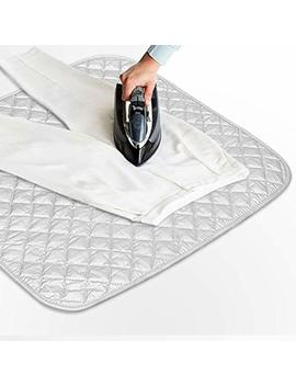 Eutuxia Ironing Blanket, Magnetic Mat, Iron Board Alternative, Gray, Quilted, Washer Dry Safe, Heat Resistant Pad [23 X 20.5 In] by Eutuxia