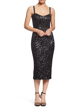 Lynda Leopard Sparkle Tea Length Dress by Dress The Population