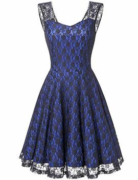 Dresstells Short Sweetheart Bridesmaid Dress Floral Lace Cocktail Party Dress by Dresstells
