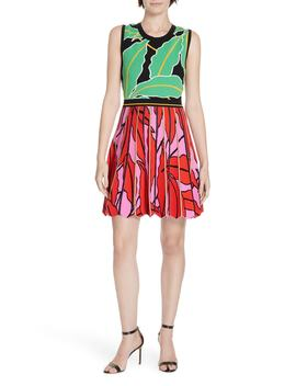 Parker Graphic Botanical Dress by Dvf